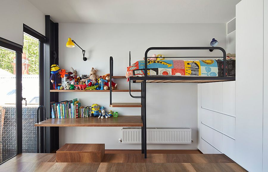 Small kids' bedroom with smart use of space [Design: Austin Maynard Architects]