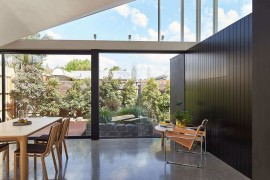 Small rear garden and deck becomes a part of the living space
