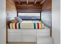 Smart bed design with storage underneath makes most of the views on offer