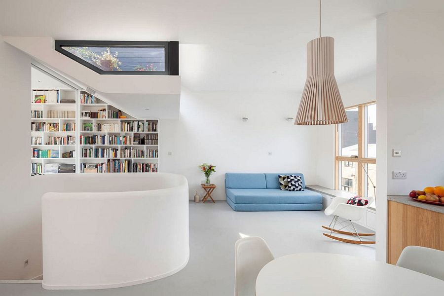 Smart interior of London home with Scandinavian simplicity