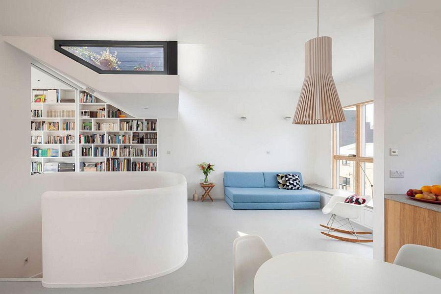 Smart interior of London home with Scandinavian simplicity