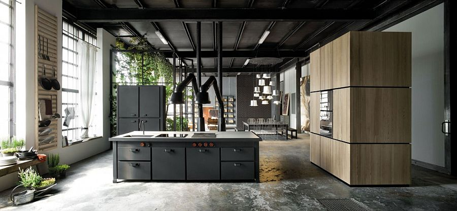 Smart kitchen and interior makes most of the vertical space with tall standalone units