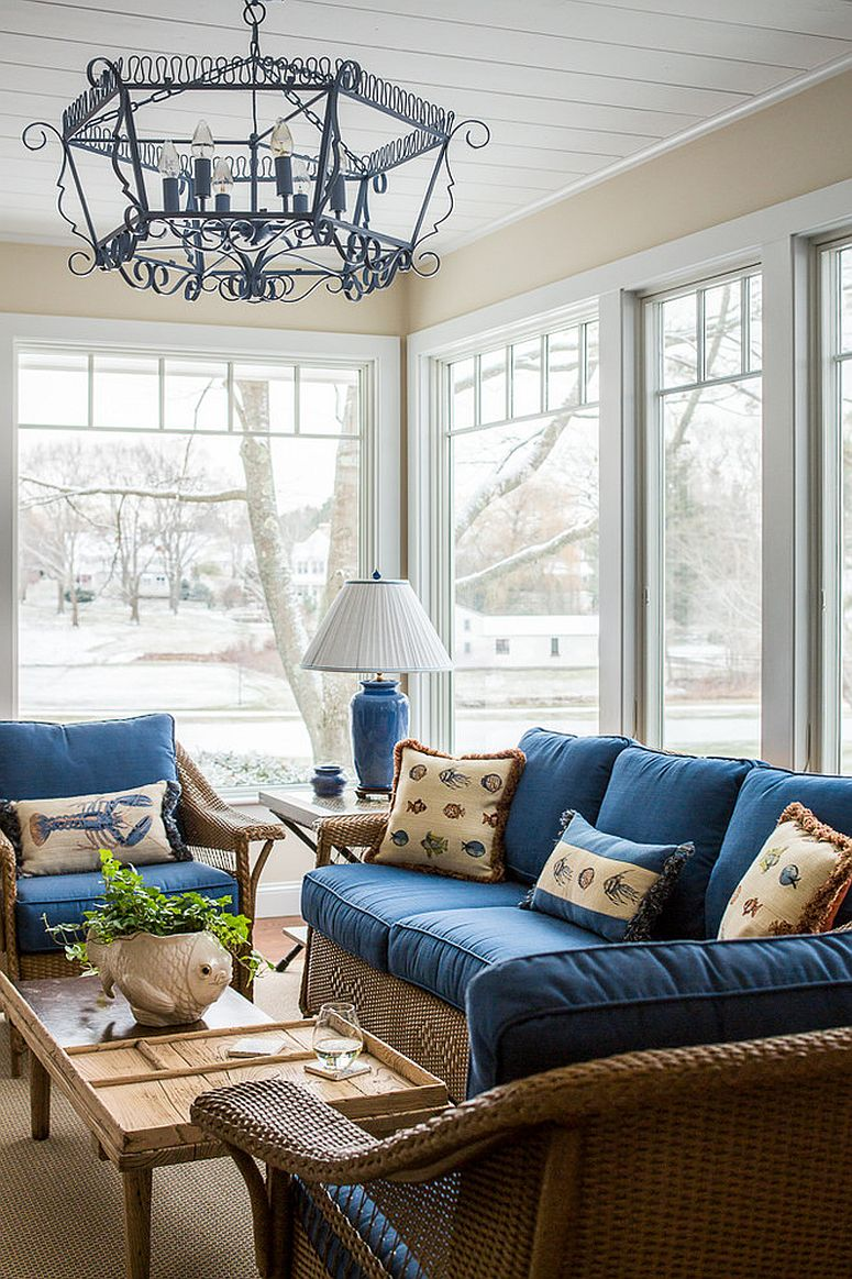 Smart sunroom allows you to enjoy the outdoors throughout the year [Design: Hurlbutt Designs]
