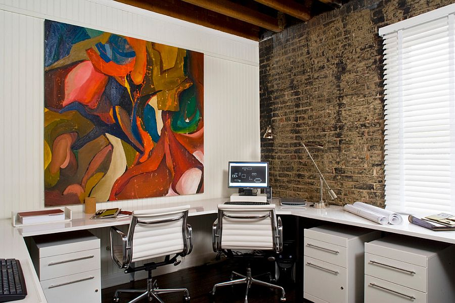 Smart workspace design for more than one user [Design: Kenneth Brown Design]