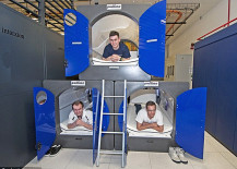 nap pods used for workers at London Olympics