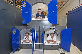 Space pods at the London-based Interxion