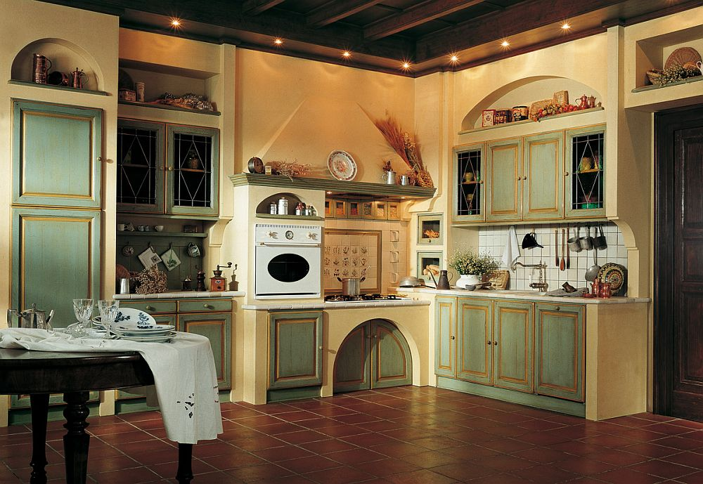 Spacious and inviting country style kitchen from Marchi Granduca: Artisanal Kitchen Offers a Tantalizing Portal to Southern France!