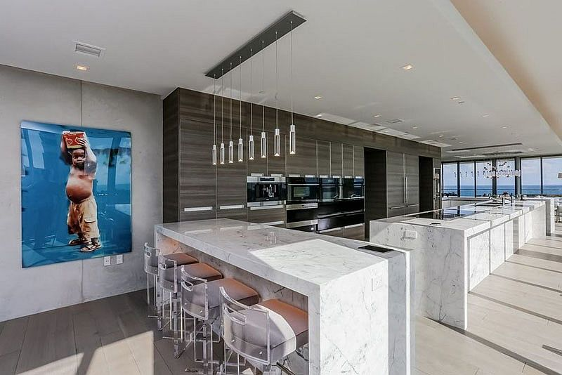 Spacious contemporary kitchen with state-of-the-art appliances