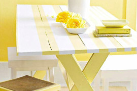 Stenciled picnic table style