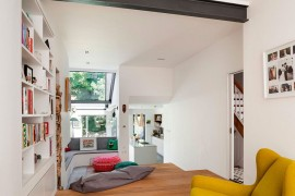 Step-wise arrangement of space gives the home a more organized look