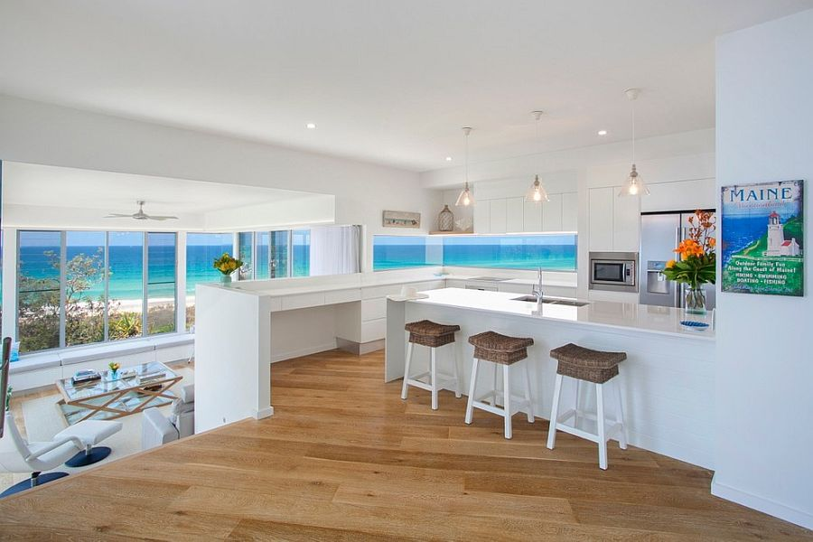 Visual treat 20 captivating kitchens with an ocean view Kitchen design center virginia beach