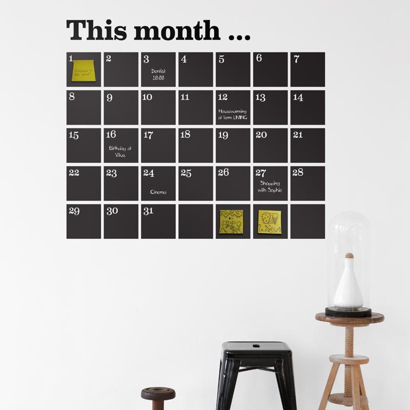 Sticker calendar from ferm LIVING
