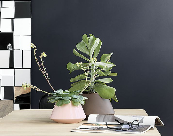 Stoneware planters from CB2