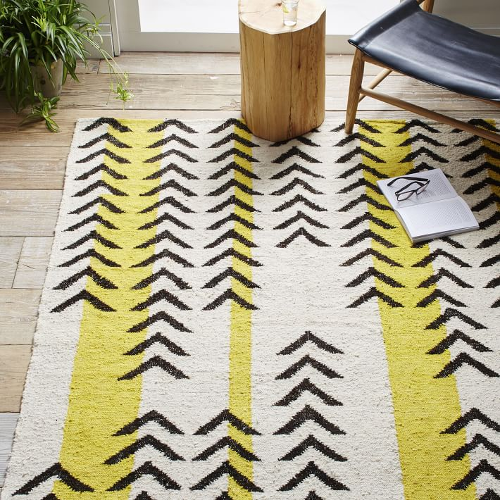 Striped dhurrie rug from West Elm