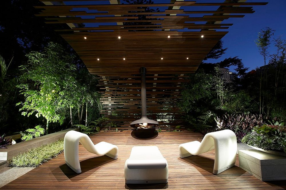 ... Stunning Contemporary Patio With Modern Minimal Look [Design: Dean  Herald Rolling Stone Landscapes