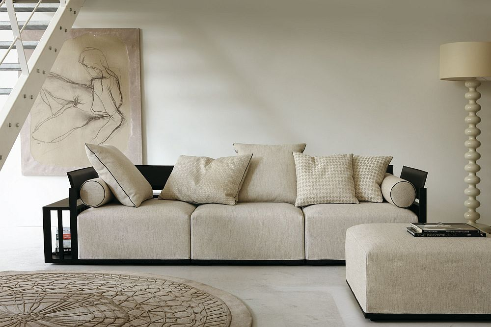 Stylish Bolero sofa with dark wooden frame