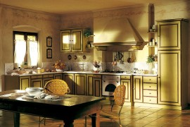 Sun-filled Mediterranean charm of Southern France combined with unassuming modernity inside the kitchen