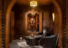 Tasting room borrows from the ambiance of a classic Gentlemens Club 217x155 Connoisseurs Delight: 20 Tasting Room Ideas to Complete the Dream Wine Cellar