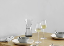 Teema and Kartio with Essence white wine glasses 217x155 Kaj Francks Teema and Kartio series: Classic Utilitarian Design