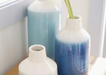 Terra cotta vases from Crate & Barrel
