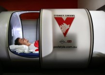 nap pod capsule with Sydney Swans logo