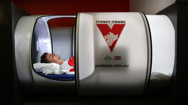 The sleep pod of the Sydney Swans