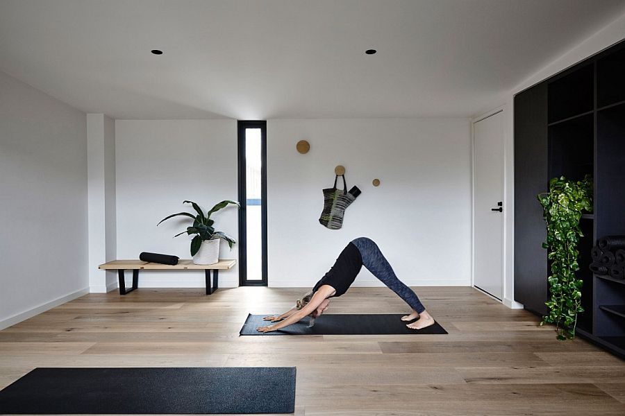 Top level yoga studio at the Elwood Townhouse