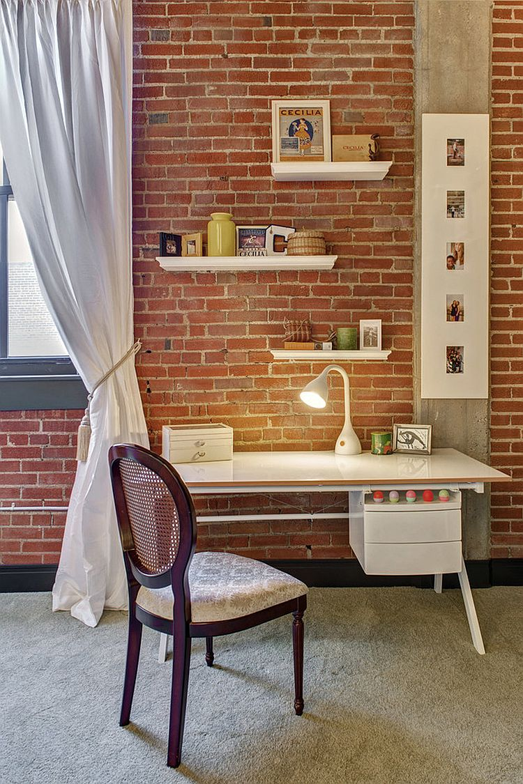 Turn even the tiniest nook in your home into a lovely workspace [Design: S&K Interiors]