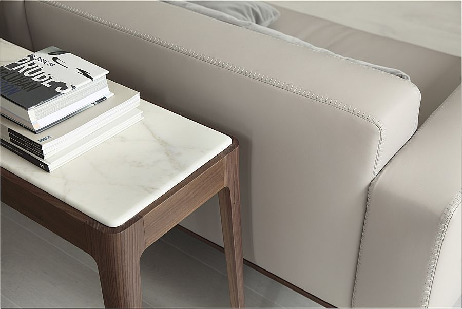 Turn the space behind the sofa into a smart workstation with a smart work table