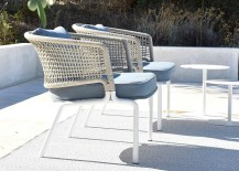 Twin Contour chairs on the pool deck