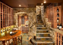 Use of stone gives the wine cellar a more classic appeal
