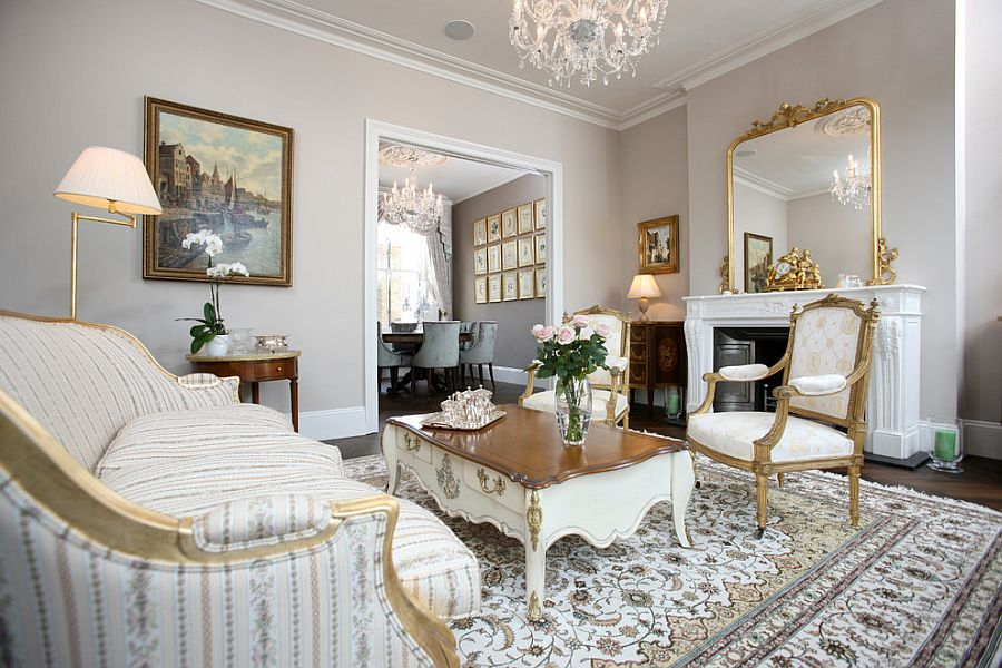 Victorian living room idea for those who wish to stay away from dark hues [From: Oficina Inglesa London]