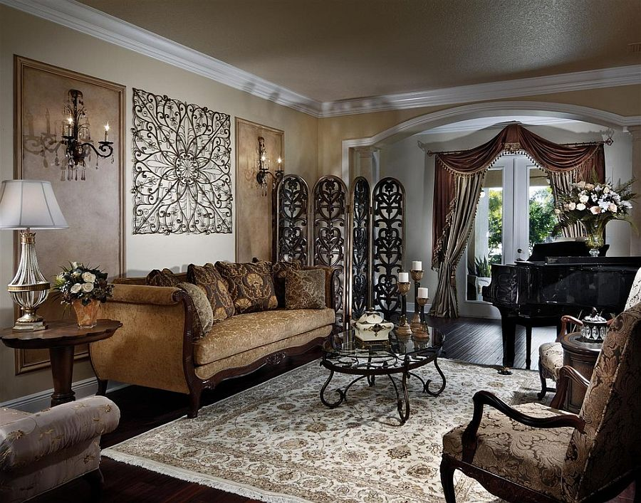 ... Victorian Meet Mediterranean Inside This Lovely Living Room In Miami [ Design: Interiors By Myriam