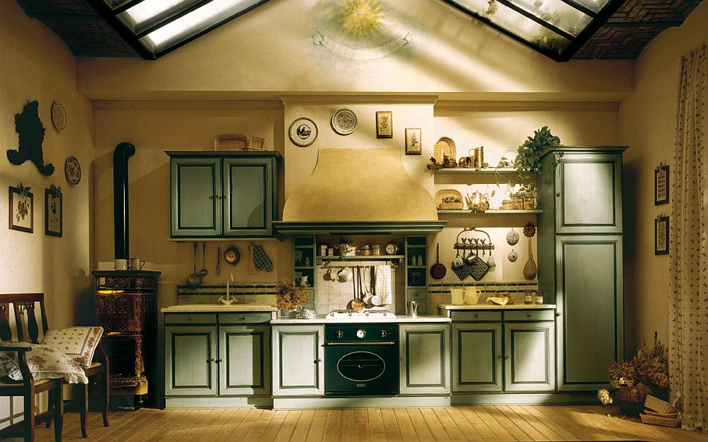 Warm and cozy kitchen kitchen inspired by the sight, sounds and flavors of Southern France