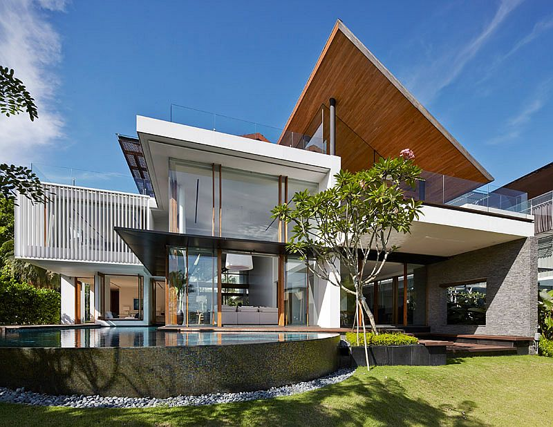 Water bodies and koi ponds become an integral part of the majestic home