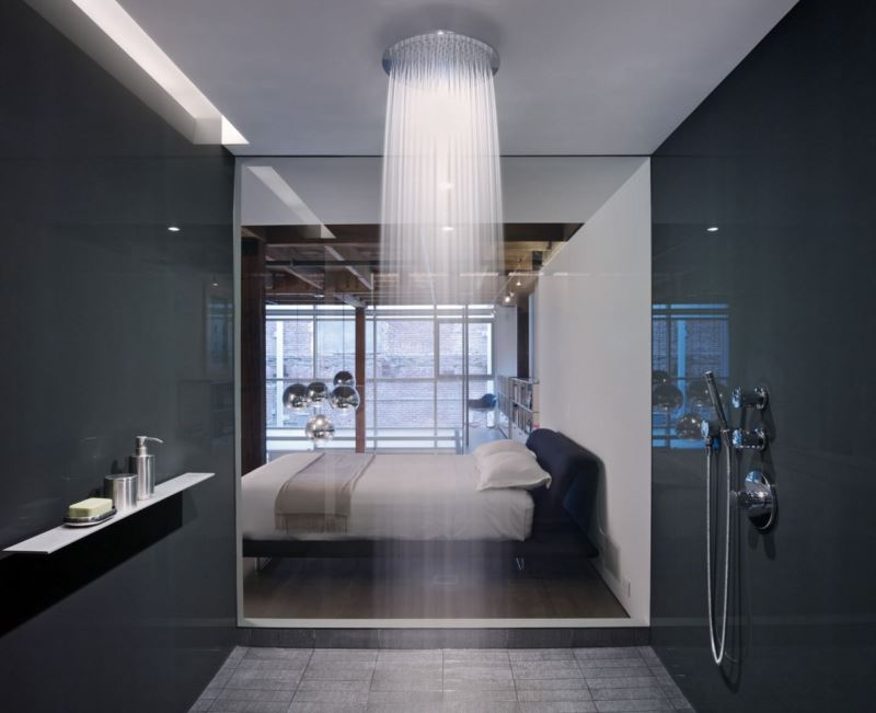 Captivating View In Gallery Water Cascades From A Large Shower Head