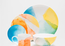 Watercolor porcelain dinnerware from Zara Home 217x155 The Color Yellow: Fun Decor Options for Spring