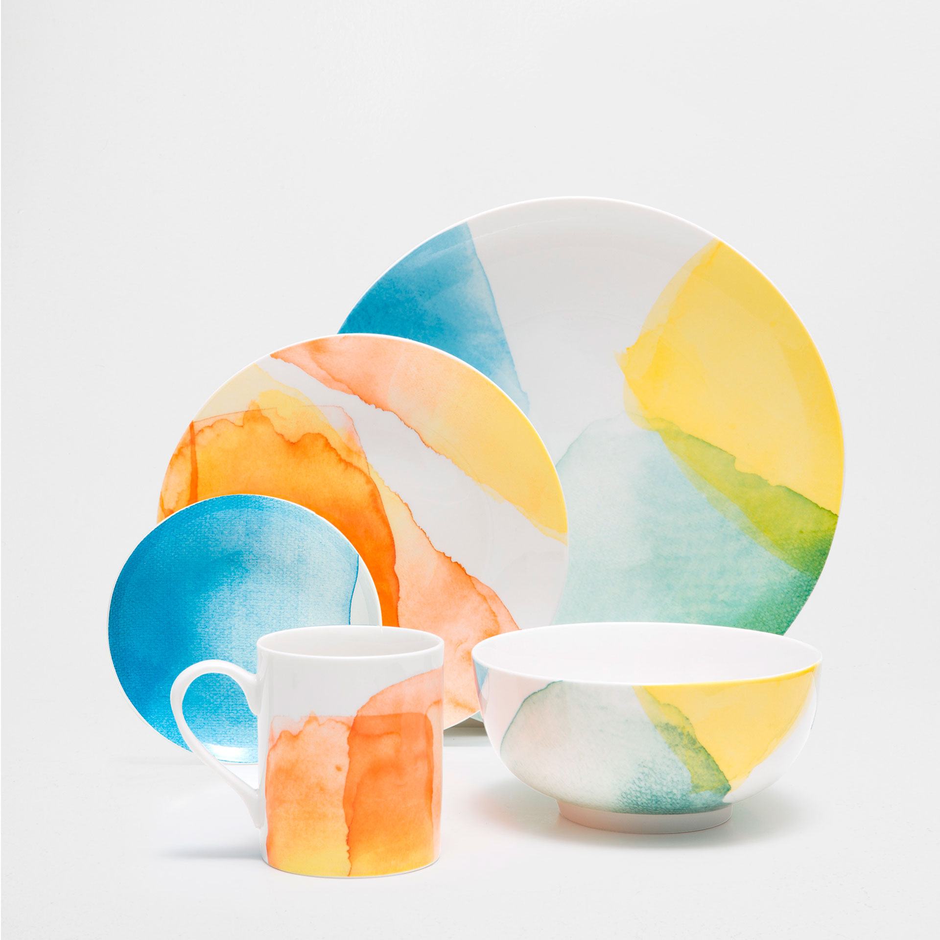 Watercolor porcelain dinnerware from Zara Home