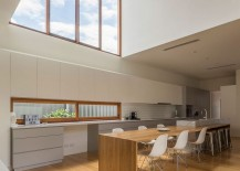 Window above the kitchen counter is a great aesthetic and functional addition