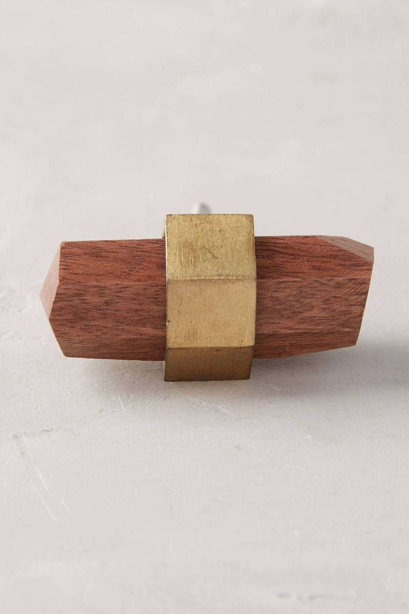 Wood and metal polished knob from Anthropologie