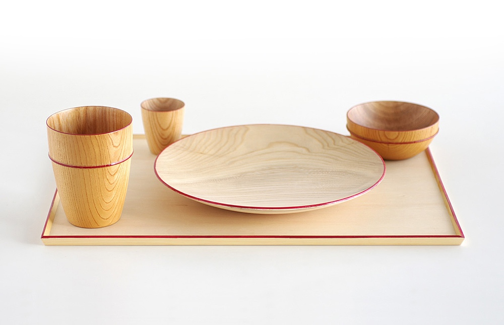Wooden Tableware for Isuke