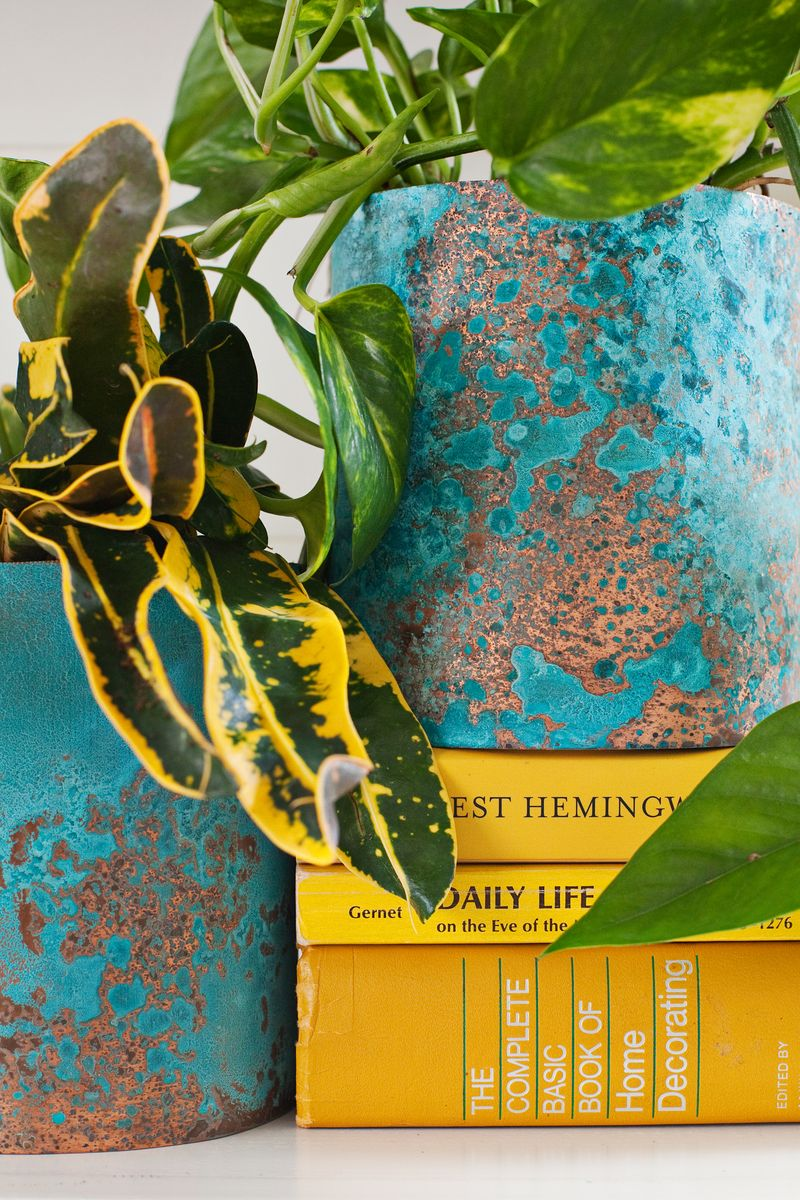 Yellow and aqua vignette from A Beautiful Mess