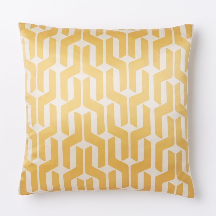 Yellow geo pillow cover from West Elm
