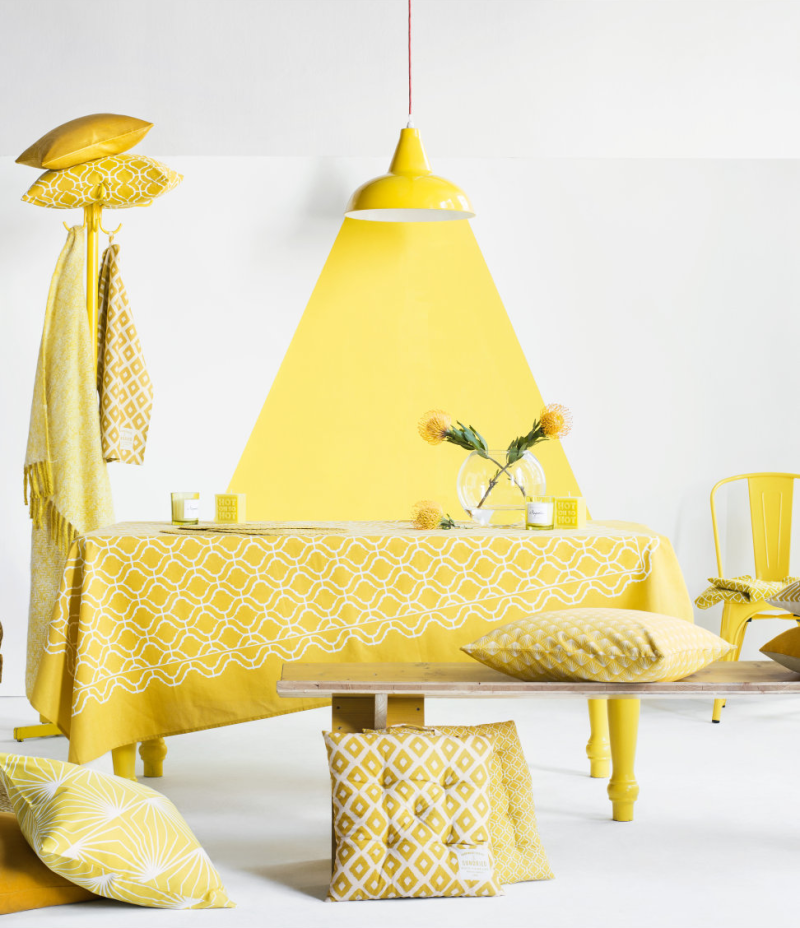 Yellow spring decor from HM Home The Color Yellow: Fun Decor Options for Spring