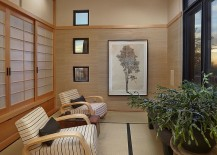 Zen styled sunroom design with natural elements 217x155 Oriental Inspiration: Asian Style Sunrooms Bring Light Filled Radiance
