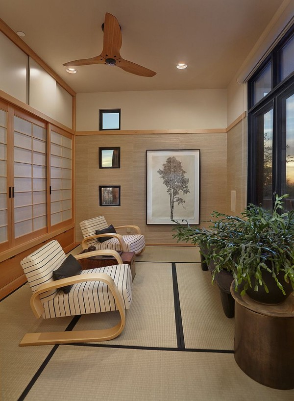 Beautiful Asian Sunroom With A Rare Ancient Door Surround