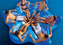 6-seater floating pool sofa