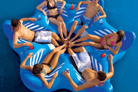 6-seater floating pool sofa