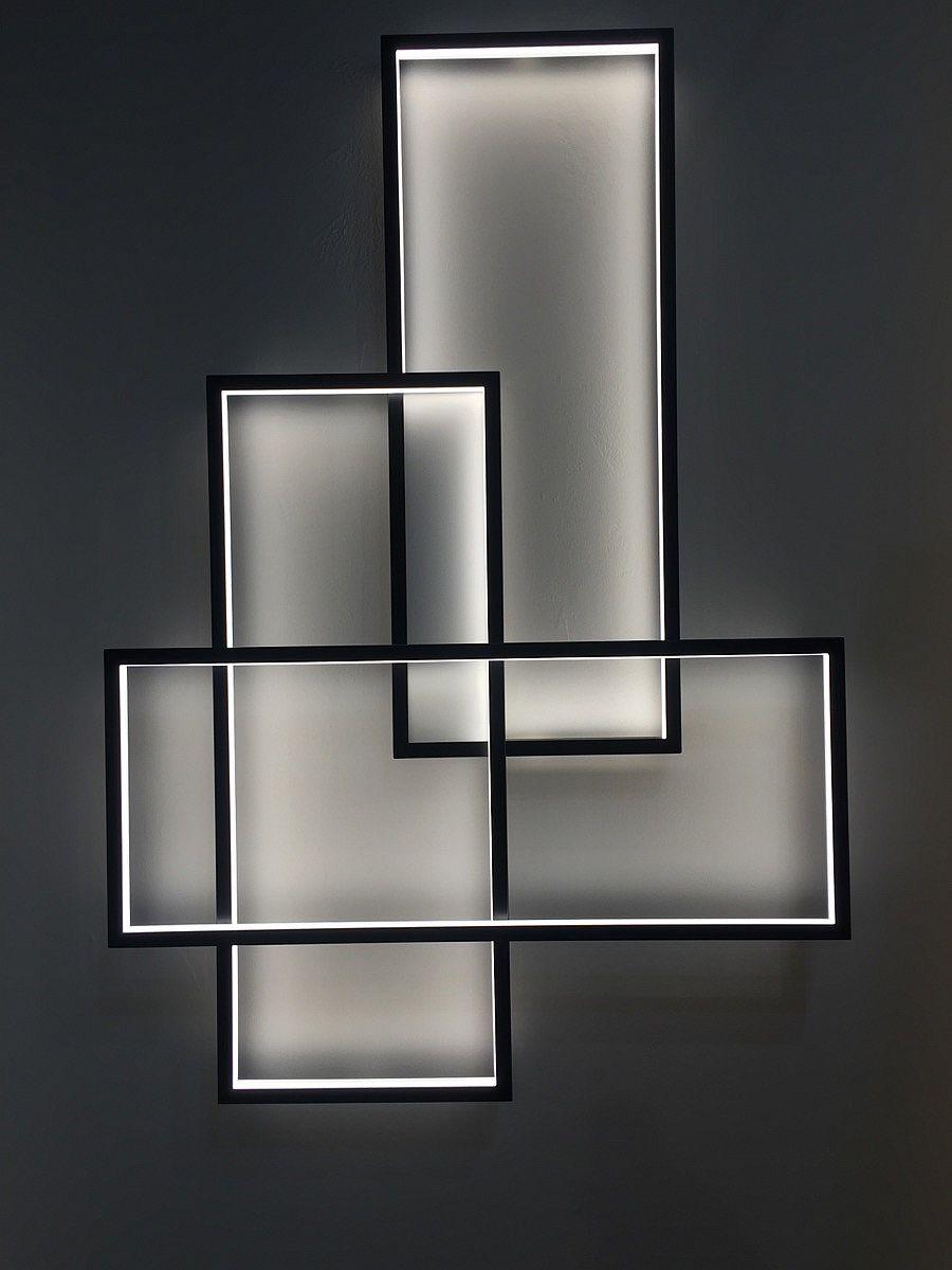 600 LED lights illuminate TRIO LED lights at night