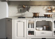 Arrital vintage kitchen with warm finishes and smart design